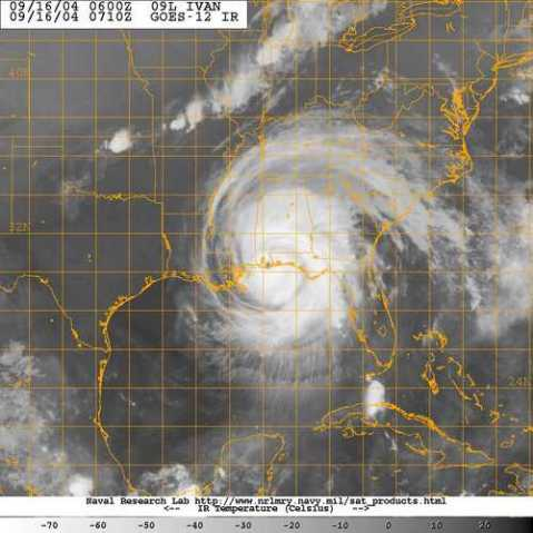 Hurricane Ivan at landfall