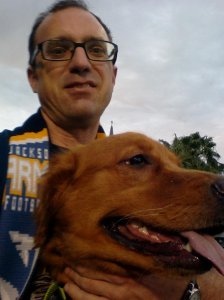 The author and his companion at Dogtoberfest - An event that didn't get much in the way of promotion ahead of time.